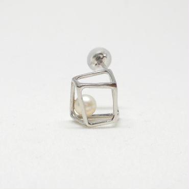 ice cube SSピアス シルバー