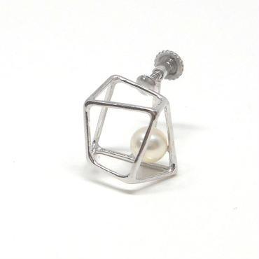 ice cube M イヤリングシルバー