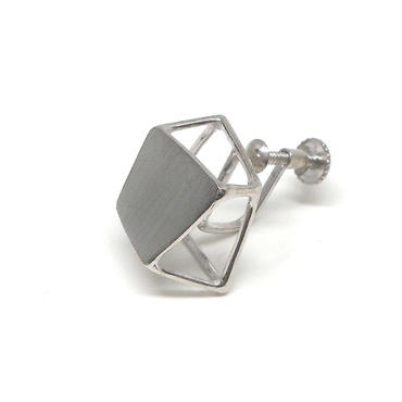 ice cube_plate Mイヤリング シルバー