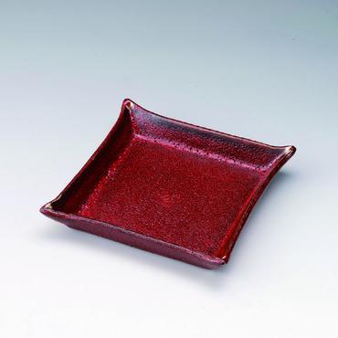 レッド スクエア皿 98-493-09