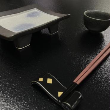ラスター花長角高台皿(小)99-510-06