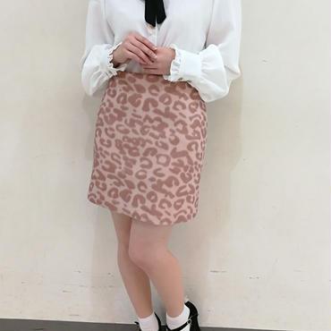 ピンクレオパードスカート