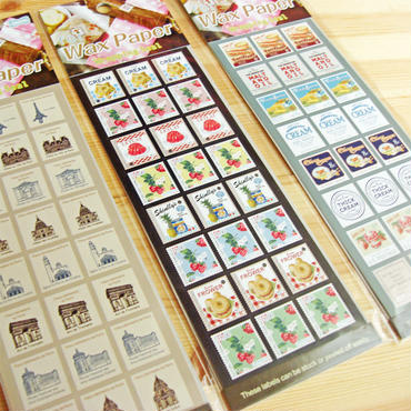 切手風ワックスペーパー用ラッピングシール
