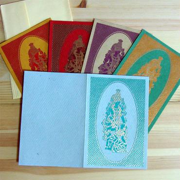 インドの神様柄ギフトカード(インド製)アソート5枚セット