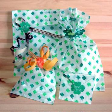 レトロキュート*クローバー紙袋のラッピングセット