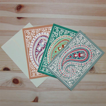 ペーズリー柄ギフトカード(インド製)