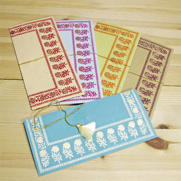 インド封筒・ご祝儀袋(5枚セット)-ANGANA