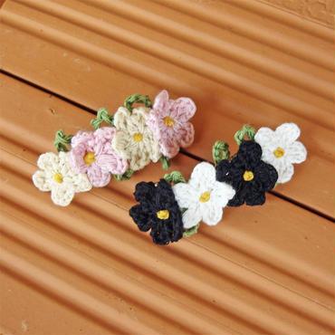 手編みお花モチーフのミニバレッタ