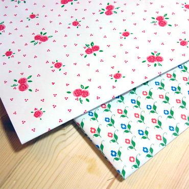 レトロ包装紙*花柄ラッピングペーパー