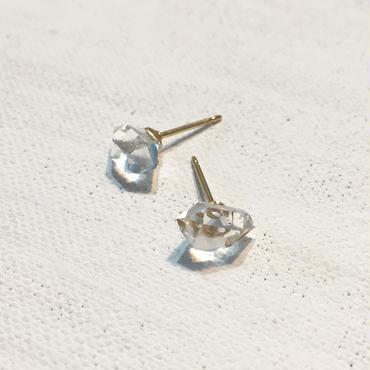 ハーキマーダイヤモンドのピアス