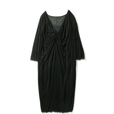 TENCEL CHIFFON TWIST ONE PIECE(BLACK)