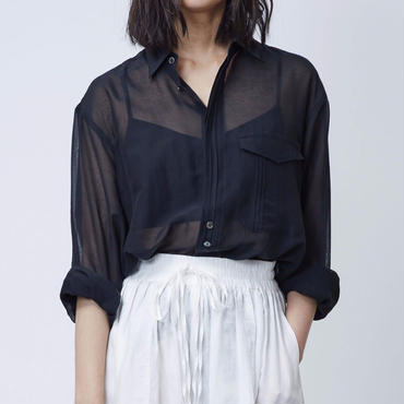 SILK OVER SHIRTS(BLACK)
