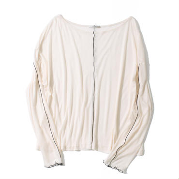 TENCEL CHIFFON PULL OVER(WHITE)