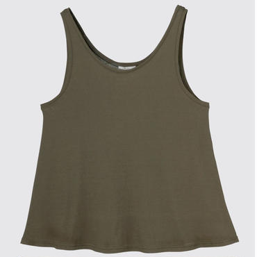 SPIMA COTTON TANK SHIRTS (KHAKI BROWN)
