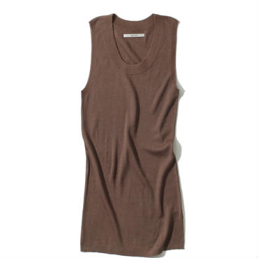 18G SILK100 TANKTOP(DARK BROWN)