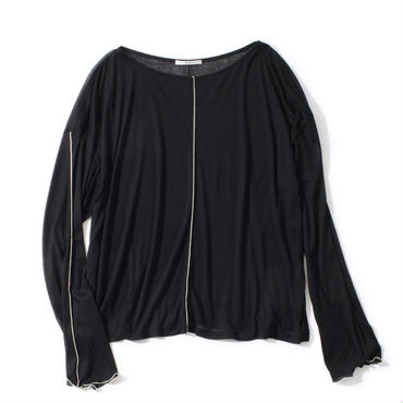 TENCEL CHIFFON PULL OVER(BLACK)