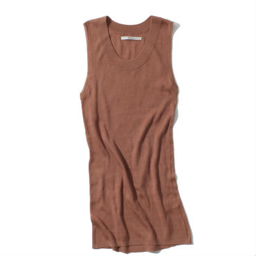 18G SILK100 TANKTOP(LIGHT BROWN)
