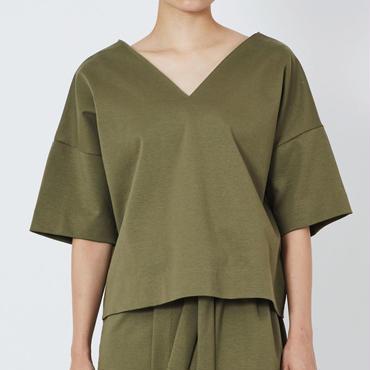SMOOTH V NECK SHIRTS スムースVネックシャツ(KHAKI)