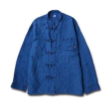 【DEAD STOCK!】JAPAN LINEN KUNG-FU SHIRTS JACKET