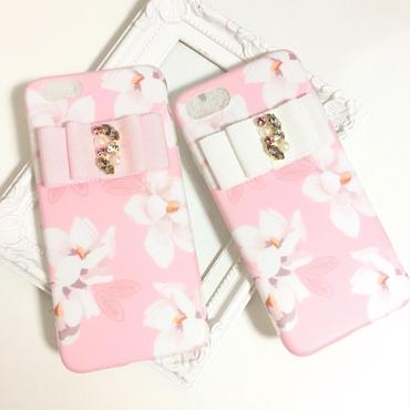 ピンクフラワーiPhoneケース