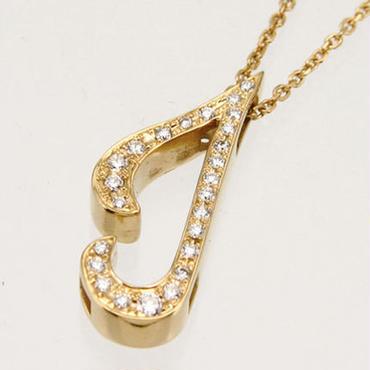 エムジェー[m.J][正規販売店][ネックレス][necklace][MJPN-07YGD-J]パルフェイニシャルネックレス J w/18Kイエローゴールド ダイヤモンド