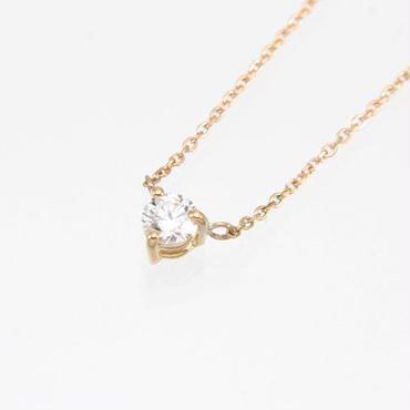 エムジェー[m.J][正規販売店][ネックレス][necklace][MJPN-08PGD]1ダイヤネックレスw/18Kピンクゴールド ダイヤモンド