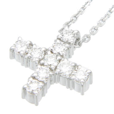 エムジェー[m.J][MJPN-05WGD]エスポワールクロスネックレスw/18Kホワイトゴールド ダイヤモンド[ESPOIR CROSS NECKLACE w/DIA 18KWG]
