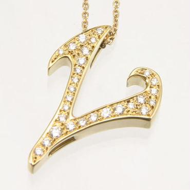 エムジェー[m.J][正規販売店][ネックレス][necklace][MJPN-07YGD-L]パルフェイニシャルネックレス L w/18Kホイエローゴールド ダイヤモンド