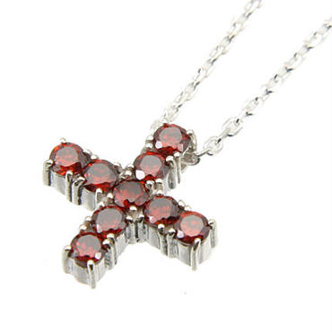 エムジェー[m.J][正規販売店][ネックレス][necklace][MJPN-05RCZ]エスポワールクロスネックレス w/レッドCZ[ESPOIR CROSS NECKLACE w/RED CZ]