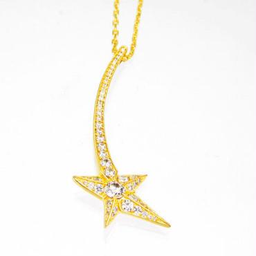 エムジェー[m.J][正規販売店][ネックレス][necklace][MJPN-03GPCZ]エトワールネックレス<br>w/シルバー CZクリア キュービックジルコニア