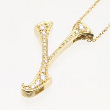エムジェー[m.J][正規販売店][ネックレス][necklace][MJPN-07YGD-Y]パルフェイニシャルネックレス Y w/18Kイエローゴールド ダイヤモンド