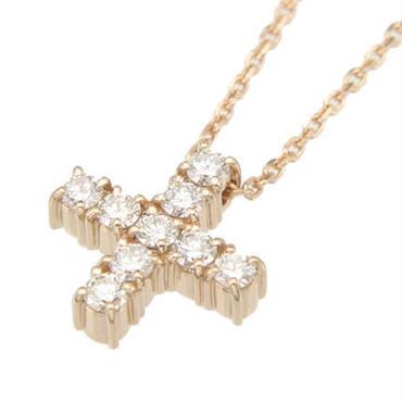 エムジェー[m.J] エスポワールクロスネックレスw/18Kピンクゴールド ダイヤモンド[ESPOIR CROSS NECKLACE w/DIA 18KPG]