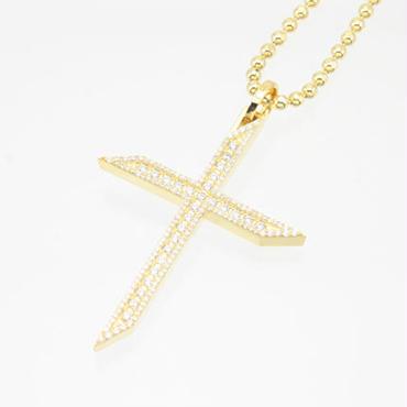 エムジェー[m.J][正規販売店][ペンダント][pendant][MJP-03CZG]ルミエールクロスペンダント