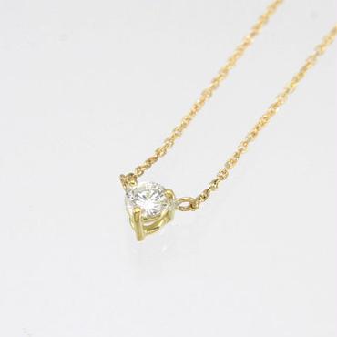 エムジェー[m.J][正規販売店][ネックレス][necklace][MJPN-08YGD]1ダイヤネックレスw/18Kイエローゴールド ダイヤモンド