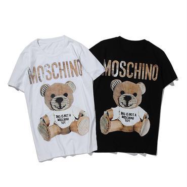 LOVE MOSCHINO CLASSIC TEDDY ラブ モスキーノ Tシャツ レディース メンズ カットソー 夏ウェア 半袖 tee クルーネック 2色