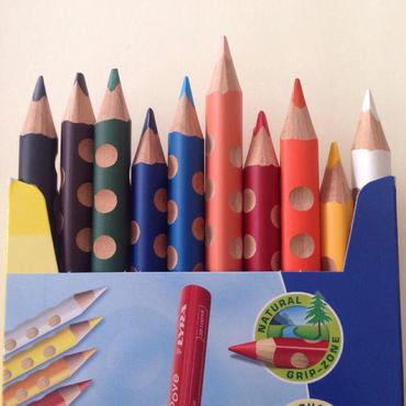 ここちよい色鉛筆 10色 (削り木つき)