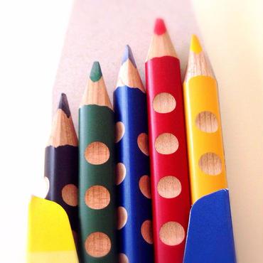 ここちよい色鉛筆 5色 (削り木付き)