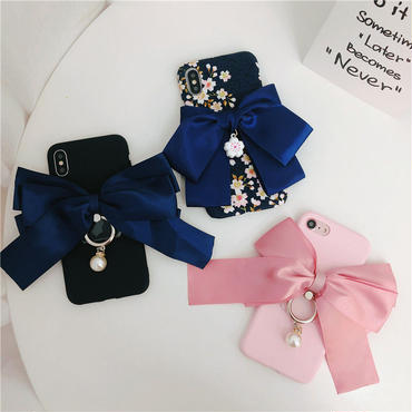 【M865】★ iPhone 6 / 6s / 6Plus / 6sPlus / 7 / 7Plus / 8 / 8Plus / X ★ シェルカバーケース Ribbon 🎀 可愛い