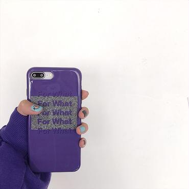 【M325】★ iPhone6 / 6Plus /6s /6sPlus /7/ 7Plus/ 8 / 8Plus /X ★ For What iPhone Case パープル 紫のケース綺麗な色