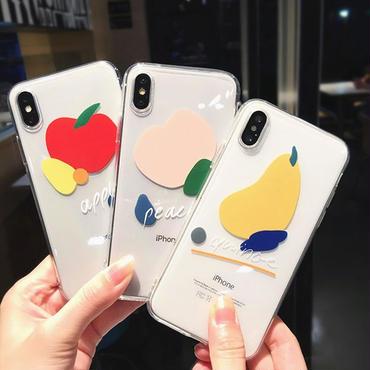 【M578】★ iPhone 6 / 6s / 6Plus / 6sPlus / 7 / 7Plus / 8 / 8Plus / X ★ シェルカバーケース  果物 クリア