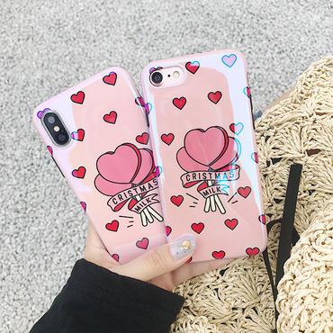 【M366】★ iPhone 6 / 6s / 6Plus / 6sPlus / 7 / 7Plus / 8 / 8Plus / X ★ Candy iPhone Case ケース ハートピンク女子