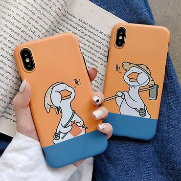 【M148】★ iPhone  6s / 6Plus / 6sPlus / 7 / 7Plus / 8 / 8Plus / X/XS /Xsmax★ シェルカバー ケース   COUPLE DUCK