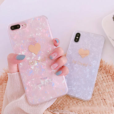 【M641】★ iPhone 6 / 6s / 6Plus / 6sPlus / 7 / 7Plus / 8 / 8Plus / X ★ シェルカバーケース  Shell be loved