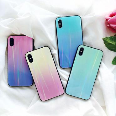【M574】★ iPhone 6 / 6s / 6Plus / 6sPlus / 7 / 7Plus / 8 / 8Plus / X ★ シェルカバーケース オーロラ 偏光