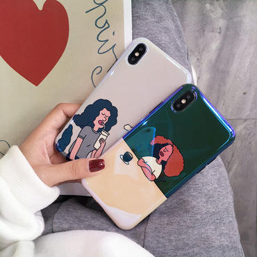 【M397】★ iPhone 6 / 6s / 6Plus / 6sPlus / 7 / 7Plus / 8 / 8Plus / X ★ シェルカバー ケース 暇な時  Girls