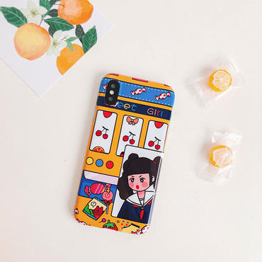 【M709】★ iPhone 6 / 6s / 6Plus / 6sPlus / 7 / 7Plus / 8 / 8Plus / X ★ シェルカバー ケース cheery girl