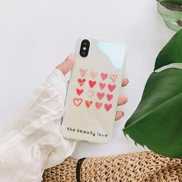 【M419】★ iPhone 6 / 6s /6Plus / 6sPlus / 7 / 7Plus / 8 / 8Plus / X ★ シェルカバー ケース Small Hearts