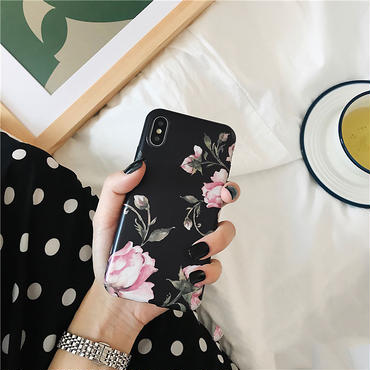【M745】★ iPhone 6 / 6s / 6Plus / 6sPlus / 7 / 7Plus / 8 / 8Plus / X ★ シェルカバー ケース花咲く