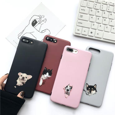 【M804】★ iPhone 6 / 6s / 6Plus / 6sPlus / 7 / 7Plus / 8 / 8Plus / X ★ シェルカバーケース Many Dogs