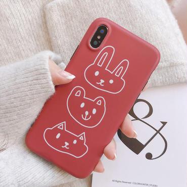【M943】★ iPhone 6 / 6sPlus / 7 / 7Plus / 8 / 8Plus / X/XS/XR/Xs Max ★ シェルカバーケース red rabbit 🐰